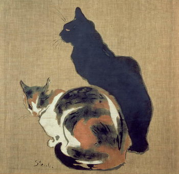 Canvastavla Two Cats, 1894