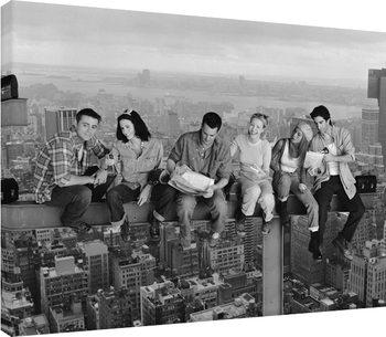 Canvastavla Vänner - Friends - Lunch on a Skyscraper