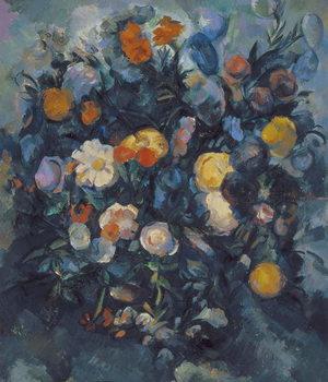 Canvastavla Vase of Flowers, 19th