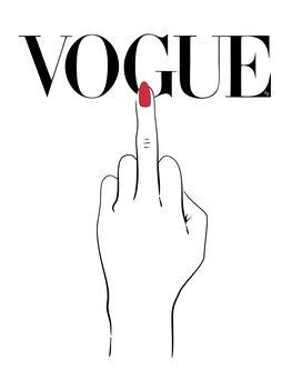 Canvastavla Vogue