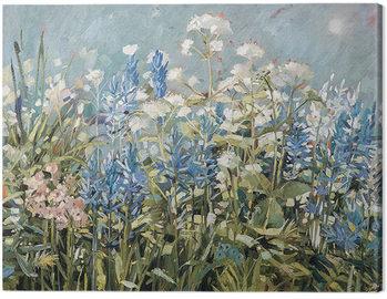 Canvastavla Anne-Marie Butlin - Blue Summer Border