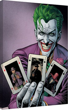 Canvastavla Batman - Joker Cards