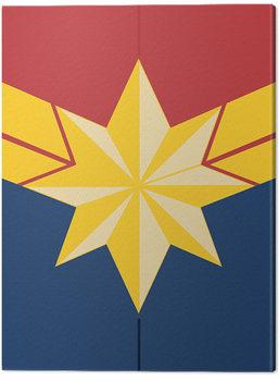 Canvastavla Captain Marvel - Emblem