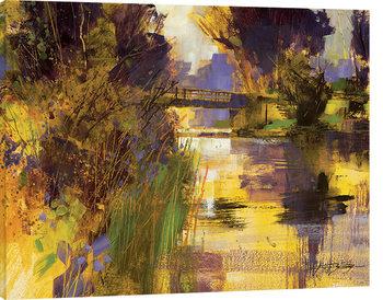 Canvastavla Chris Forsey - Bridge & Glowing Light