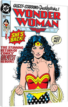 Canvastavla  DC Comics - Wonder Woman - She's Back