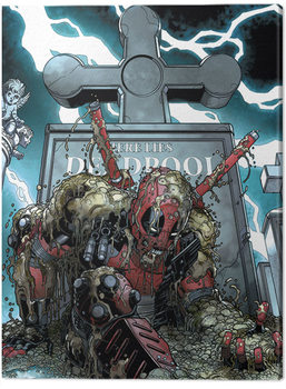 Canvastavla Deadpool - Grave