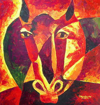 Canvastavla Equus reborn, 2009