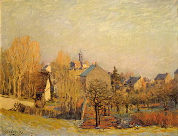 Canvastavla  Frosty Morning in Louveciennes, 1873