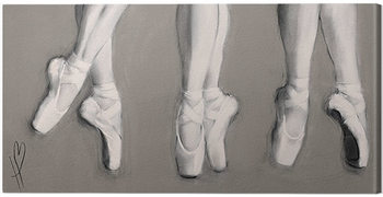 Canvastavla Hazel Bowman - Dancing Feet