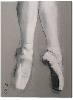 Canvastavla Hazel Bowman - Dancing Feet II