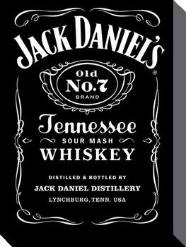 Bilden på canvas Jack Daniel's - Label
