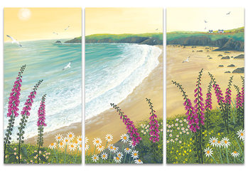 Canvastavla Jo Grundy - Dawn Over Foxglove Bay