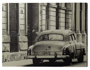 Canvastavla Lee Frost - Vintage Car, Havana, Cuba