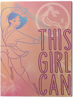 Canvastavla Mulan - This Girl Can