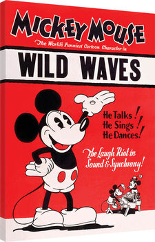 Canvastavla  Musse Pigg (Mickey Mouse) - Wild Waves