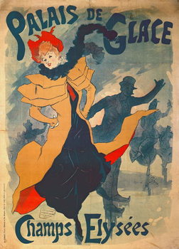 Canvastavla  Poster advertising the Palais de Glace on the Champs Elysees