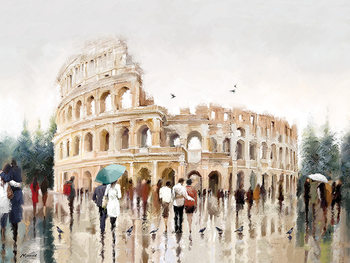 Canvastavla  Richard Macneil - Colosseum, Rome