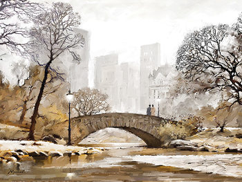 Canvastavla  Richard Macneil - Gapstow Bridge