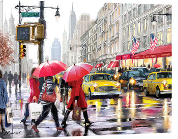 Canvastavla  Richard Macneil - New York Shoppers