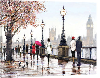 Canvastavla  Richard Macneil - Thames View