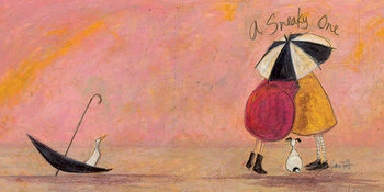 Canvastavla Sam Toft - A Sneaky One II
