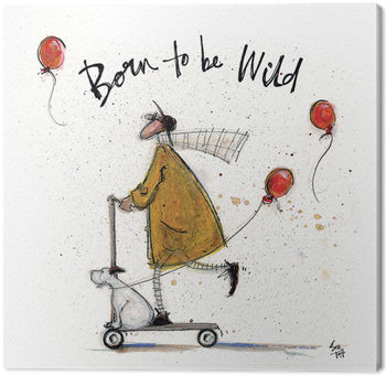 Canvastavla Sam Toft - Born to be Wild