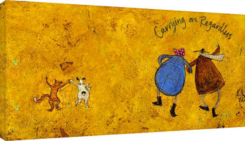 Canvastavla  Sam Toft - Carrying on regardless II