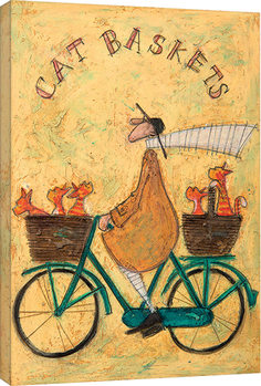 Canvastavla Sam Toft - Cat Baskets