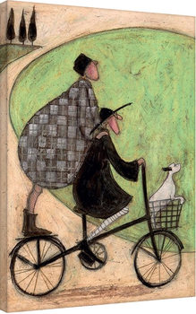 Canvastavla Sam Toft - Double Decker Bike