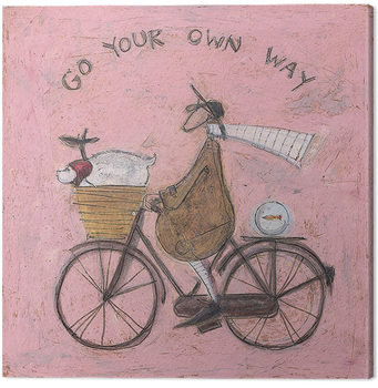 Canvastavla Sam Toft - Go Your Own Way