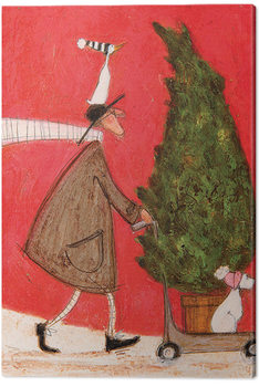 Canvastavla Sam Toft - Little Silent Christmas Tree