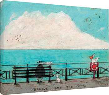 Canvastavla Sam Toft - Sharing out the Chips