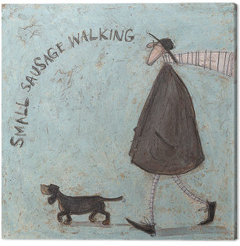 Canvastavla  Sam Toft - Small Sausage Walking