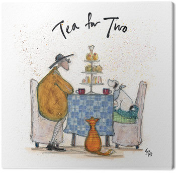 Canvastavla Sam Toft - Tea For Two - Colour