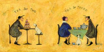 Canvastavla Sam Toft - Tea for two, tea fro three