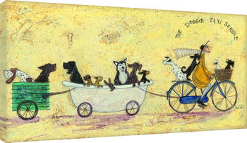Canvastavla Sam Toft - The doggie taxi service