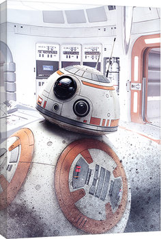 Canvastavla Star Wars: The Last Jedi - BB-8 Peek
