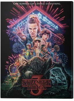 Canvastavla Stranger Things - Summer of 85
