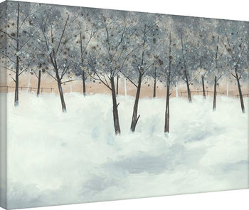 Canvastavla Stuart Roy - Silver Trees on White