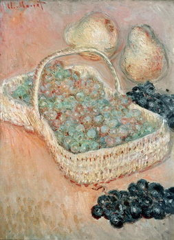 Canvastavla The Basket of Grapes, 1884