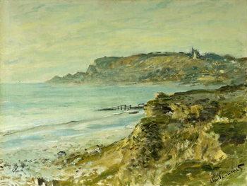 Canvastavla The Cliffs at Sainte-Adresse; La Falaise de Saint Adresse, 1873