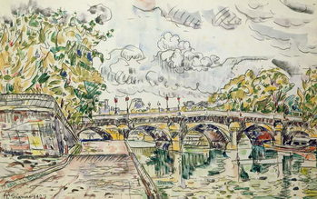Canvastavla The Pont Neuf, Paris, 1927