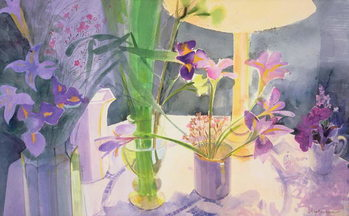 Canvastavla Winter Iris