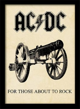 AC/DC - for those about to rock gerahmte Poster