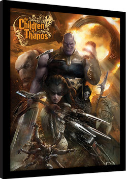 Avengers Infinity War - Children of Thanos gerahmte Poster