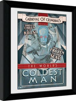 Batman Comic - Circus Coldest Man gerahmte Poster