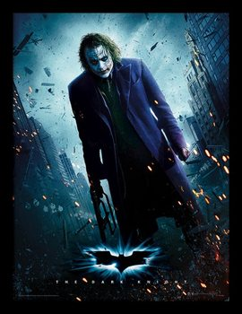 Batman The Dark Knight - Joker Gun gerahmte Poster