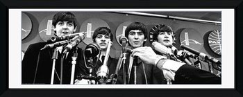 Beatles - interwiew gerahmte Poster