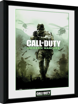 Call of Duty Modern Warfare - Key Art gerahmte Poster