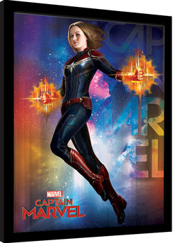 Captain Marvel - Space gerahmte Poster